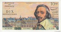 10 Nouveaux Francs RICHELIEU FRANCE  1960 F.57.10 pr.SPL