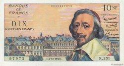 10 Nouveaux Francs RICHELIEU FRANCE  1962 F.57.21 SUP à SPL