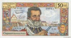 50 Nouveaux Francs HENRI IV FRANCE  1960 F.58.05 SUP+