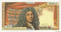 500 Nouveaux Francs MOLIÈRE FRANCE  1963 F.60.04 TTB
