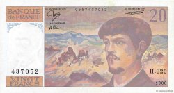 20 Francs DEBUSSY FRANCE  1988 F.66.09 TTB+