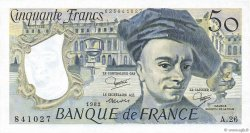 50 Francs QUENTIN DE LA TOUR FRANCE  1982 F.67.08 SPL