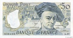 50 Francs QUENTIN DE LA TOUR FRANCE  1989 F.67.15 SUP+