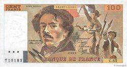 100 Francs DELACROIX modifié FRANCE  1983 F.69.07 SPL+