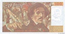 100 Francs DELACROIX imprimé en continu FRANCE  1991 F.69bis.03a1 NEUF