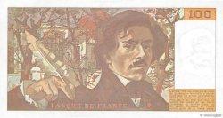 100 Francs DELACROIX imprimé en continu FRANCE  1991 F.69bis.03a2 SUP