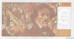 100 Francs DELACROIX imprimé en continu FRANCE  1991 F.69bis.04b SPL