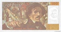 100 Francs DELACROIX imprimé en continu FRANCE  1991 F.69bis.04c pr.NEUF