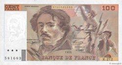 100 Francs DELACROIX 442-1 & 442-2 FRANCE  1995 F.69ter.02b TTB