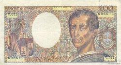 200 Francs MONTESQUIEU FRANCE  1989 F.70.09x TB+