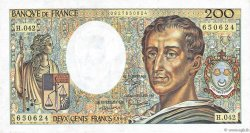 200 Francs MONTESQUIEU alphabet H.402 FRANCE  1986 F.70ter.01a SUP
