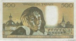 500 Francs PASCAL filigrane tête-bêche FRANCE  1973 F.71bis.01 TB+