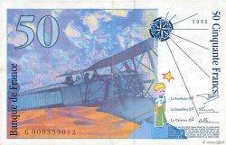 50 Francs SAINT-EXUPÉRY FRANCE  1992 F.72.01a TTB+