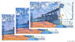 50 Francs SAINT-EXUPÉRY FRANCE  1992 F.72.01b SUP à SPL