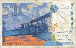50 Francs SAINT-EXUPÉRY sans STRAP FRANCE  1997 F.72qua.04 B+