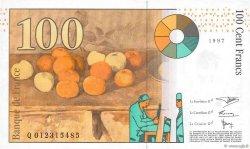 100 Francs CÉZANNE sans STRAP FRANCE  1997 F.74bis.01 SUP+