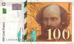 100 Francs CÉZANNE montagne en haut FRANCE  1998 F.74(ter).01 TTB