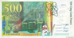 500 Francs PIERRE ET MARIE CURIE sans STRAP FRANCE  1994 F.76qua.01 TTB
