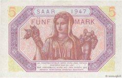 5 Mark SARRE FRANCE  1947 VF.46.01 pr.SPL