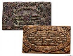 Paire de plaques 50cts Le Mans FRANCE régionalisme et divers  1920  SUP