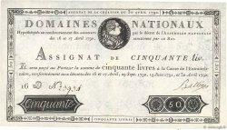 50 Livres FRANCE  1792 Ass.28a SUP