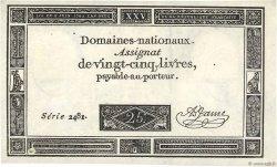 25 Livres FRANCE  1793 Ass.43a NEUF