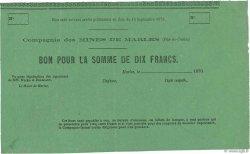 10 Francs FRANCE  1870 - SUP