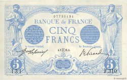 5 Francs BLEU FRANCE  1912 F.02.05 SUP