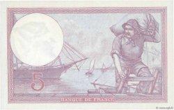 5 Francs VIOLET FRANCE  1927 F.03.11 NEUF