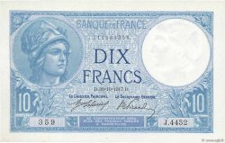 10 Francs MINERVE FRANCE  1917 F.06.02 NEUF