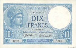 10 Francs MINERVE FRANCE  1921 F.06.05 SPL