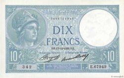 10 Francs MINERVE FRANCE  1936 F.06.17 SPL