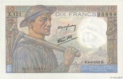 10 Francs MINEUR FRANCE  1947 F.08.17 SPL+