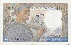 10 Francs MINEUR FRANCE  1949 F.08.22a SUP+