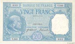 20 Francs BAYARD FRANCE  1916 F.11.01 SUP+