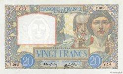 20 Francs SCIENCE ET TRAVAIL FRANCE  1940 F.12.06 SPL
