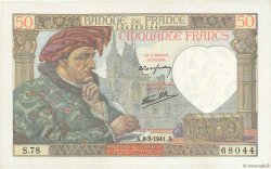 50 Francs JACQUES CŒUR FRANCE  1941 F.19.10 SPL+