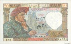 50 Francs JACQUES CŒUR FRANCE  1941 F.19.12 NEUF