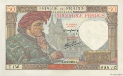 50 Francs JACQUES CŒUR FRANCE  1942 F.19.19 SUP+
