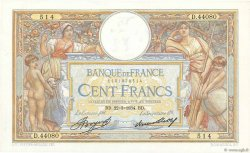 100 Francs LUC OLIVIER MERSON grands cartouches FRANCE  1934 F.24.13 SPL