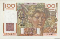 100 Francs JEUNE PAYSAN FRANCE  1952 F.28.32 SPL+