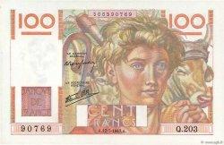 100 Francs JEUNE PAYSAN Favre-Gilly FRANCE  1947 F.28ter.01 NEUF