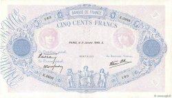 500 Francs BLEU ET ROSE modifié FRANCE  1940 F.31.56 SUP