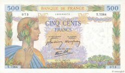500 Francs LA PAIX FRANCE  1943 F.32.44 SPL