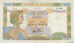 500 Francs LA PAIX FRANCE  1944 F.32.46 TTB+