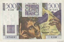 500 Francs CHATEAUBRIAND FRANCE  1953 F.34.11 SPL