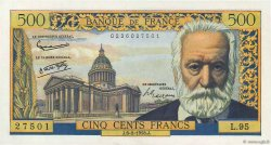 500 Francs VICTOR HUGO FRANCE  1958 F.35.08 NEUF