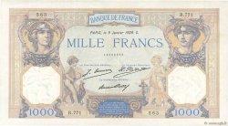 1000 Francs CÉRÈS ET MERCURE FRANCE  1929 F.37.03 TTB+