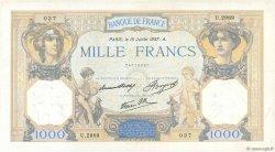 1000 Francs CÉRÈS ET MERCURE type modifié FRANCE  1937 F.38.02 SUP