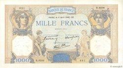 1000 Francs CÉRÈS ET MERCURE type modifié FRANCE  1940 F.38.45 SPL+